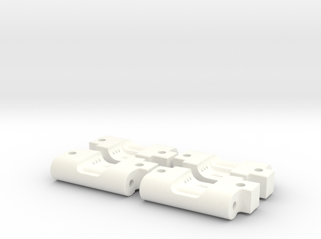 Quadra V2 Rear Arm Mounts (3-1 and 3-2) in White Processed Versatile Plastic