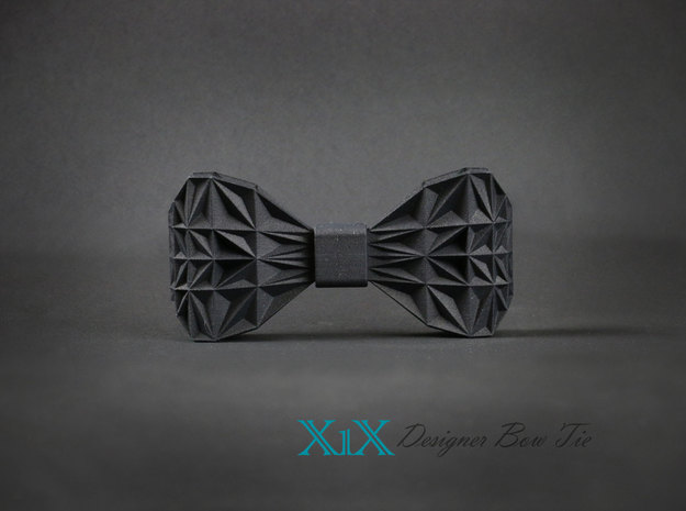 "Designer Bow Tie ""X1X"" in Black Strong & Flexible"