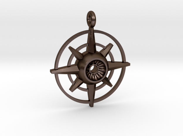 Evil Eye - Compass in Polished Bronze Steel