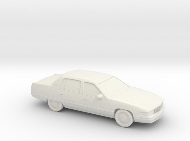 1/64 1994 Cadillac Deville in White Natural Versatile Plastic