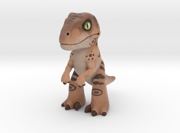 Velociraptor in Full Color Sandstone
