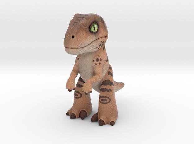 Velociraptor in Full Color Sandstone