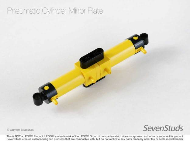 Pneumatic Cylinder Mirror Plate in Yellow Processed Versatile Plastic