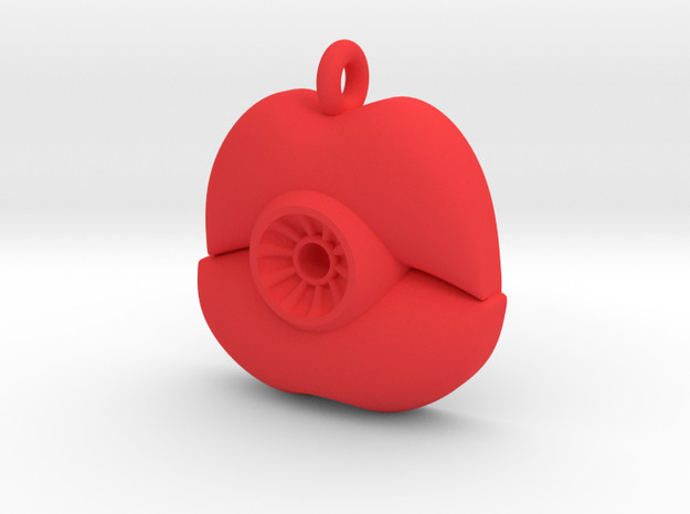 Evil Eye - Lips in Red Processed Versatile Plastic