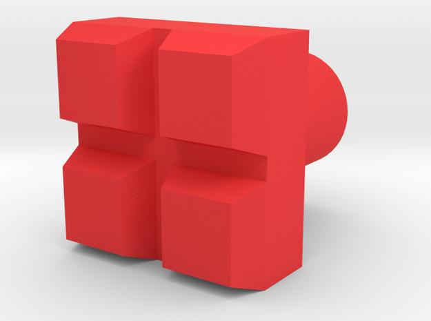 Leather stamp 8, square blocks in Red Processed Versatile Plastic