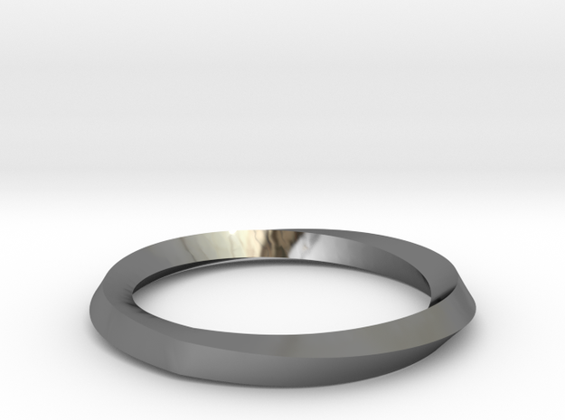 Mobius Wedding Ring-size10 in Premium Silver
