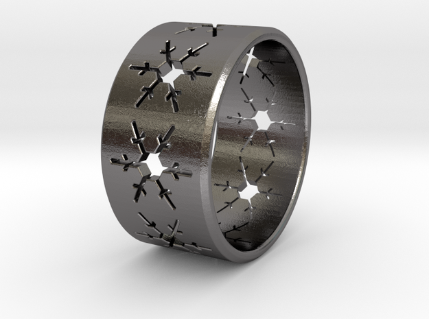 Snowflake Ring Size US 5 in Polished Nickel Steel