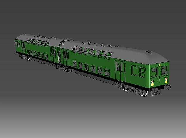 1:220 Überarbeitet - DR Doppelstockzug zweiteilig  in Smooth Fine Detail Plastic