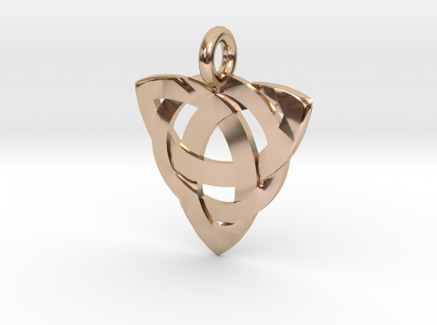 Celtic Knot Necklace Pendant (Inverted Triquetra) 3d printed