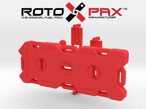 AJ10015 RotopaX 4 Gallon Fuel Pack - RED in Red Processed Versatile Plastic