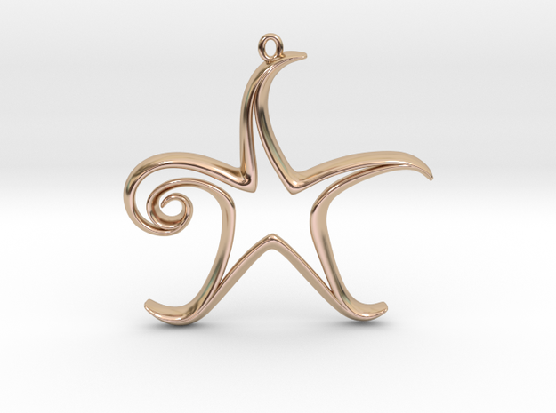 The Star Pendant 3d printed