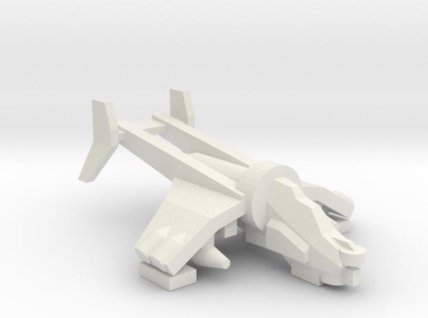[5] Gunship (Target Designator Variant) in White Natural Versatile Plastic