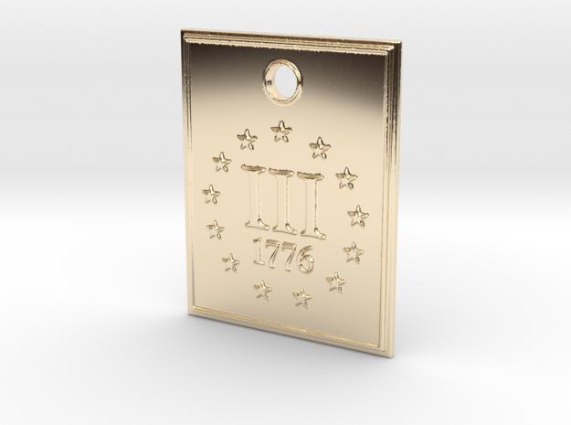 1776 III% Pendant in 14K Yellow Gold