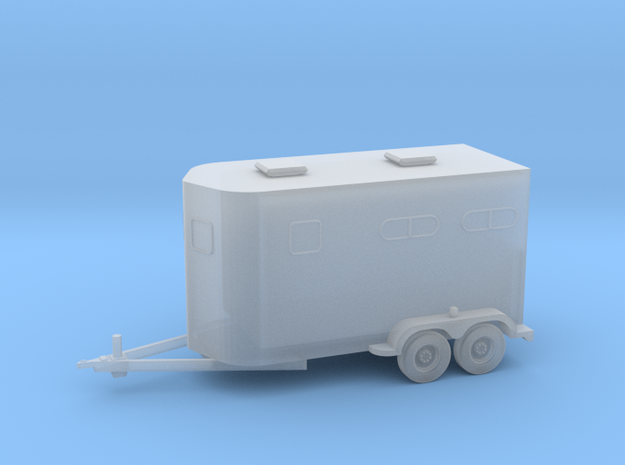 2 Horse Bumperpull Trailer in Smooth Fine Detail Plastic