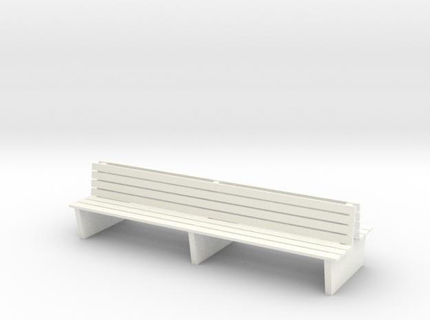 S1-212   Doppelbahnsteigbank 2 Felder in White Processed Versatile Plastic
