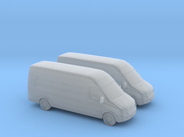 1/148 2X Mercedes Sprinter/GB in Smooth Fine Detail Plastic