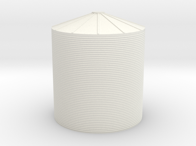 N Scale Water Tank ø30 H30mm in White Natural Versatile Plastic