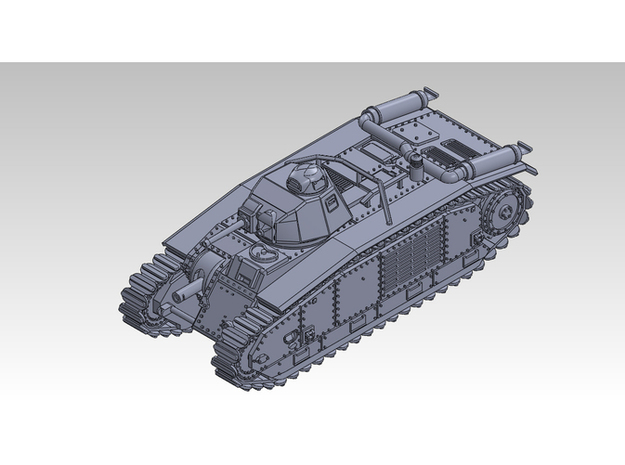 1/87 CHAR B1bis in Smooth Fine Detail Plastic