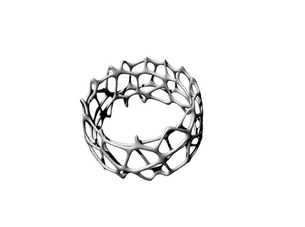 voronoi doubleshell bracelet in Black Strong & Flexible