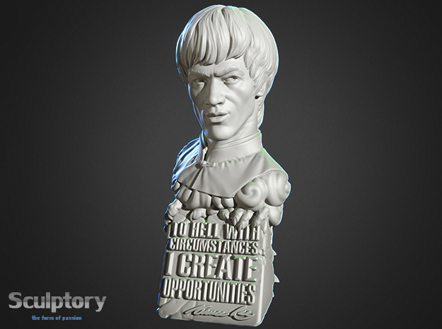 Bruce Lee Bust with Quote, Size S