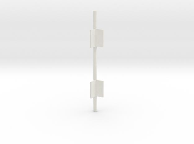 Outside Corner Bar V3 in White Natural Versatile Plastic