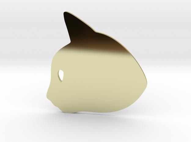 Kitten #2 in 18k Gold Plated Brass
