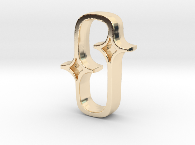 The Double Star in 14K Yellow Gold
