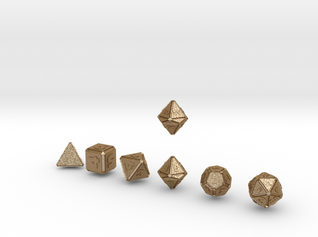 FUTURISTIC outies inverse bevels dice 3d printed