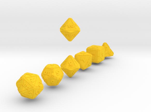 CYBERTECH Futuristic Outie Bevels Dice 3d printed
