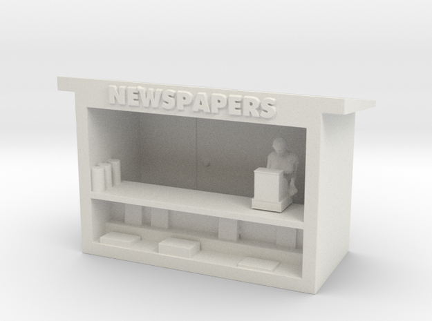 News Stand - HO 87:1 Scale in White Natural Versatile Plastic
