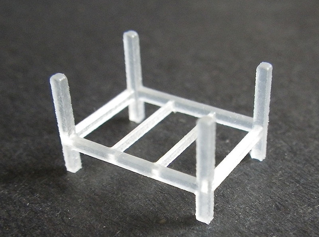 Steel Storage Rack 1-87 (HO Scale) in Smooth Fine Detail Plastic
