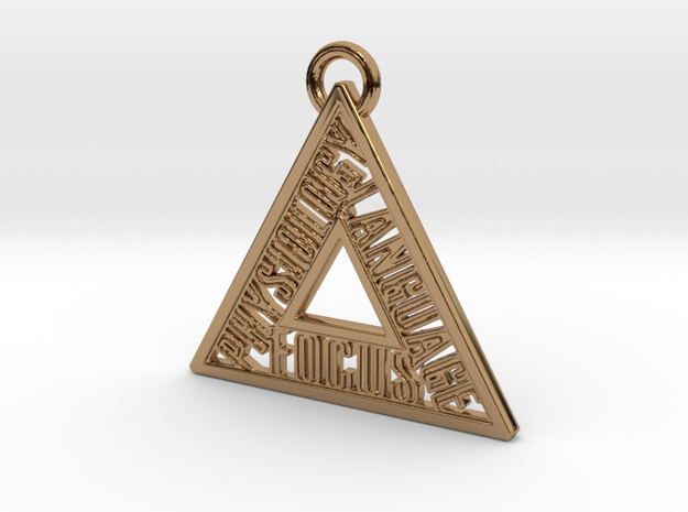 Motivation Pendant, State in Polished Brass