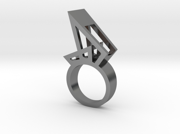 Nora Sail Ring in Polished Silver