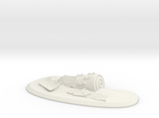 Ork Battle Wagon Waste Land in White Natural Versatile Plastic