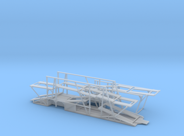 1/87  Car Hauler Trailer And Front in Smooth Fine Detail Plastic
