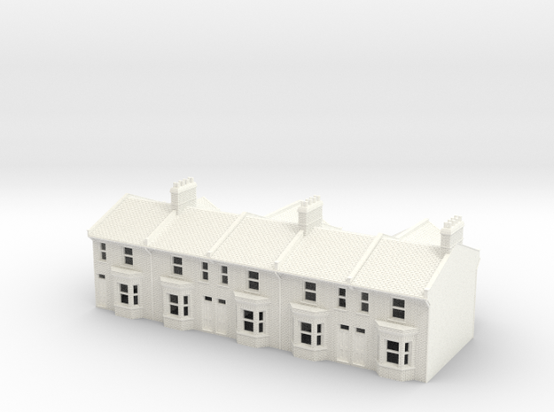 HVT-1 N Scale Honiton Victoria Terrace 1:148 in White Strong & Flexible Polished