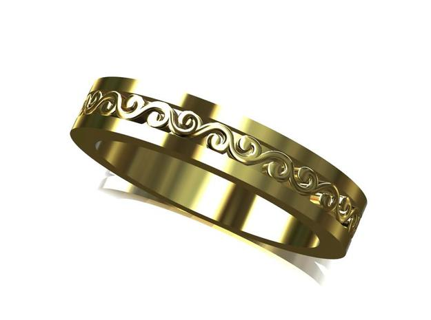 Wedding Band in Smooth Fine Detail Plastic