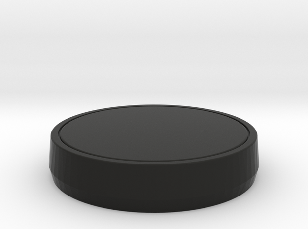 Single Part Base - Suitable for custom Amiibo in Black Natural Versatile Plastic