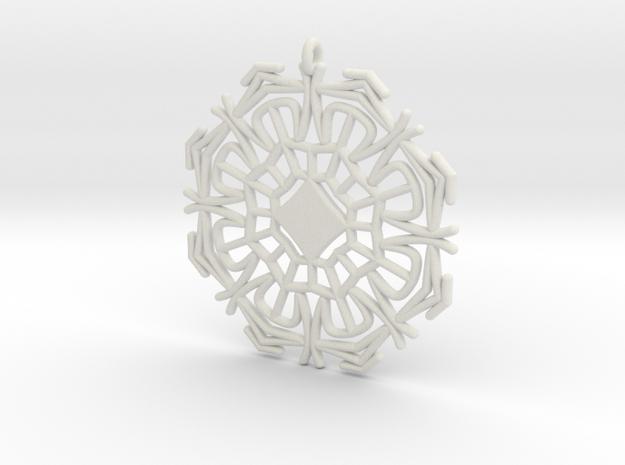Cinderella Snowflake in White Natural Versatile Plastic