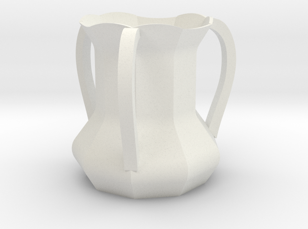 Territorial Cup V2 in White Natural Versatile Plastic