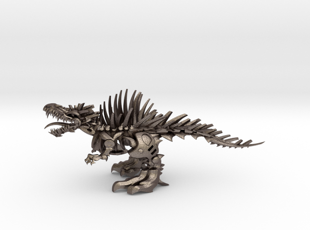 "Raptor V2 3 - Mega XXXXL (559 cm - 22"" long) in Polished Bronzed Silver Steel"