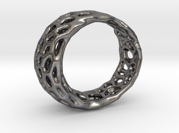 Frohr Design Radiolaria Ring in Polished Nickel Steel