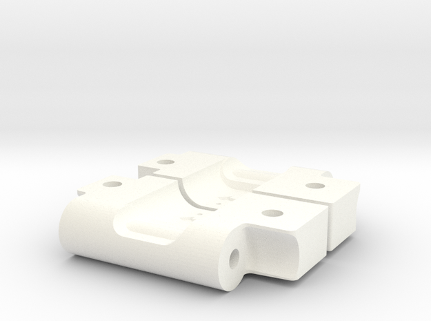 RPM73282 Arm Mounts for RC10 (3-2) in White Processed Versatile Plastic
