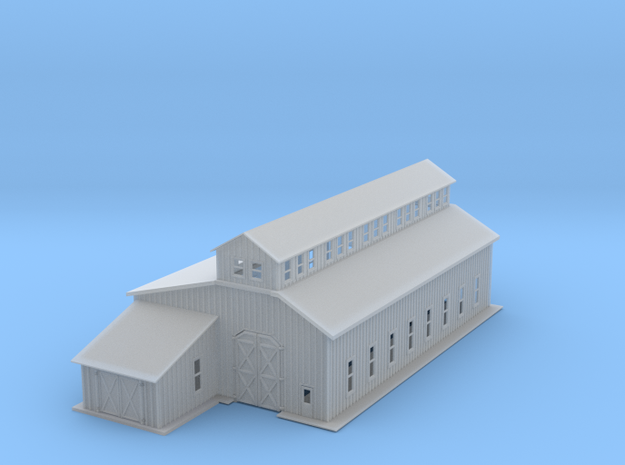 Railroad Engine Shop 3d printed Railroad Engine Shed Z scale