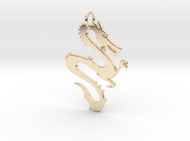Dragon Pendant & Charm in 14K Yellow Gold