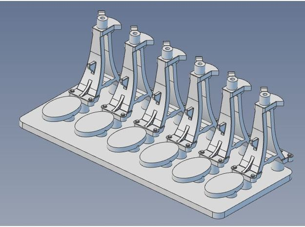 CPR Switchstand S Scale Set of 6 in Frosted Ultra Detail
