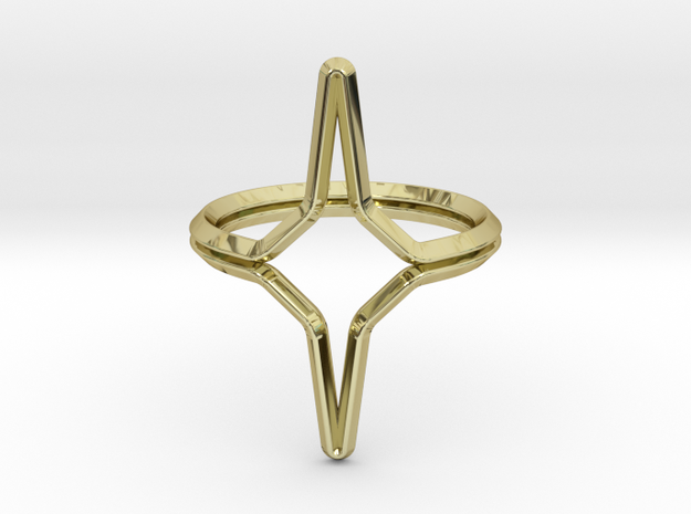 YOUNIVERSAL YY.01, ring US size 3.5, d=14,5mm(all  in 18k Gold Plated: 3.5 / 45.25