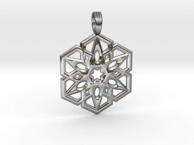HEXLIGHT in Fine Detail Polished Silver