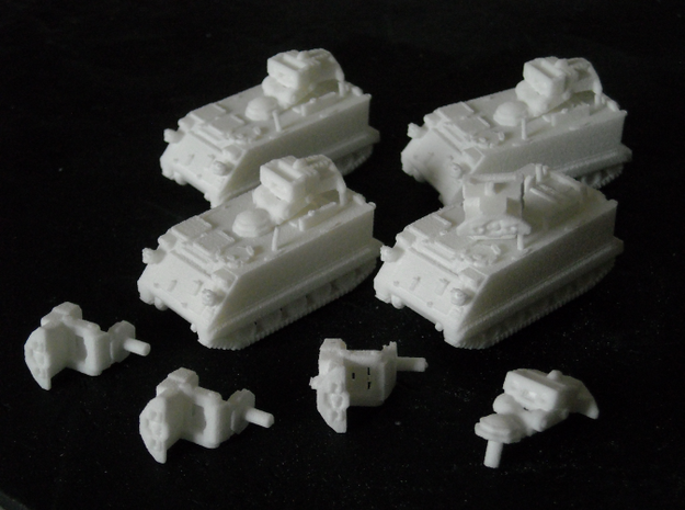 MG144-NATO02 M901 TOW Platoon 3d printed (Version 1, version 2 has thicker turret spar)