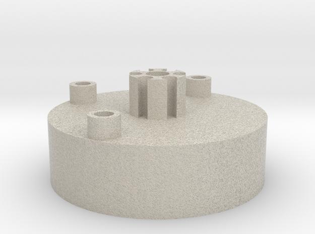 Saber Crystal Chamber lightsaber parts 1/2 in Natural Sandstone